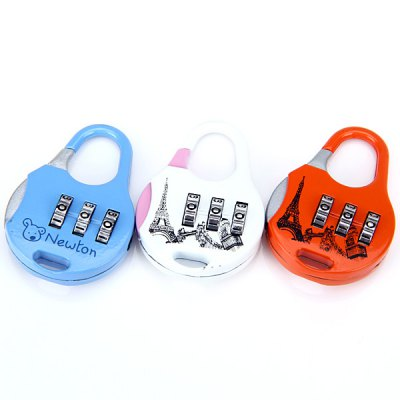1pc Round Body Durable Resettable Combination Padlock Coded Lock