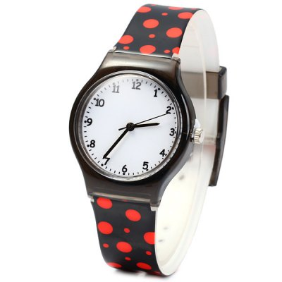 Children Quartz Watch Round Dial Rubber Watch Band Christmas Gift
