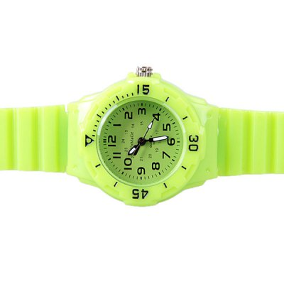WoMaGe Quartz Children Watch with 12 Arabic Numbers Indicate and Plastic Watch Bandの画像 4