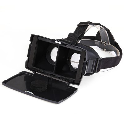 Portable Google Virtual Reality 3D Video Glasses with Elastic Band and Cover for 4  -  7 inch Smartphones