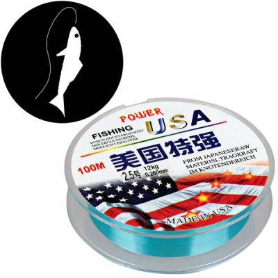 PE Braided Line Diameter 0.26mm Knot Strength 12kg 100m Fishing Line with Abrasion Resistant Design
