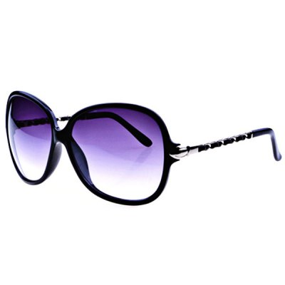 Elegant Sunglasses with Acetate and Metal Material Frame PC Lens for Women - Black Frame
