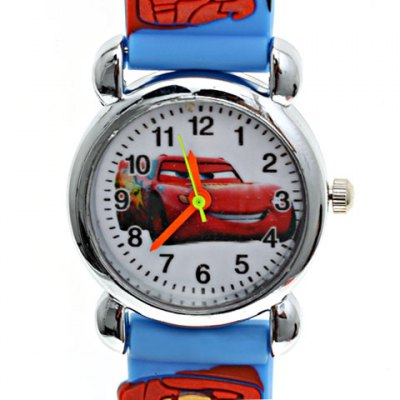 Comfortable and Fashionable Car Cartoon Picture Wrist Watch for Children