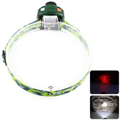 KinFire S10 Headlamp Cree XP - E R3 White Light + 4LED Red Light 180LM 2 - Mode LED Light (3 x AAA Battery)