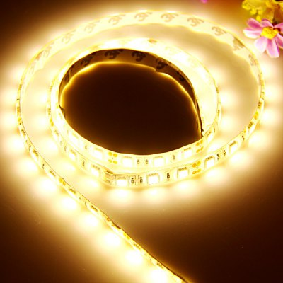 0.95M 57 x SMD - 5050 LED 3000K Flexible Decorative Strip Light with White Board DC - 12V