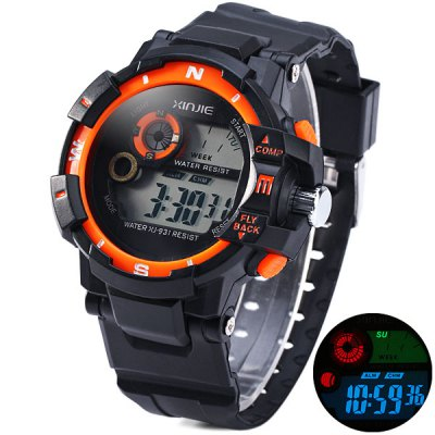 Xinjie 931 Sports Watch LED Week Light Alarm Military Wristwatch