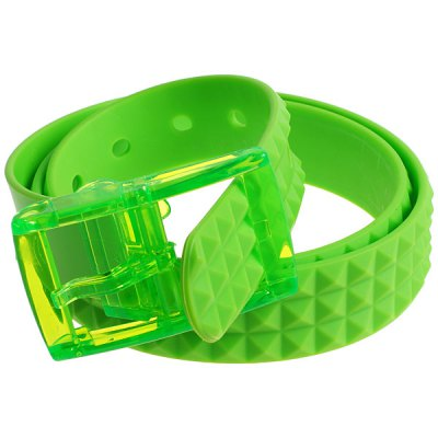 High Quality Unisex Soft Plastic Bright Color Belt of Square Shape for Airport Safety Check - Green