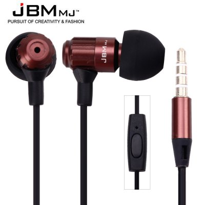 JBMMJ MJ710 Flat Wire Full Power Intelligent Mobile Phone Earphones Perfect Fit for iPad iPod iPhone Samsung etc