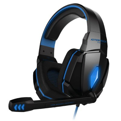 EACH G4000 USB and Audio Jack Dual Input Gaming Headset Stereo Headphone Sound Headset Stretchable Band 2.2m Nylon - coated Cabl