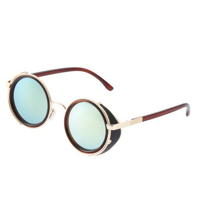 High Quality Top Trends Unisex Resin Lenses Sunglasses with Golden Frame