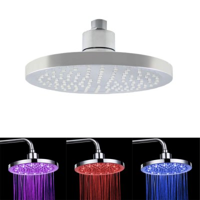 8030 - B2 Romantic Temperature Detectable 12 LEDs Shower Head Nozzle (8 Inches)