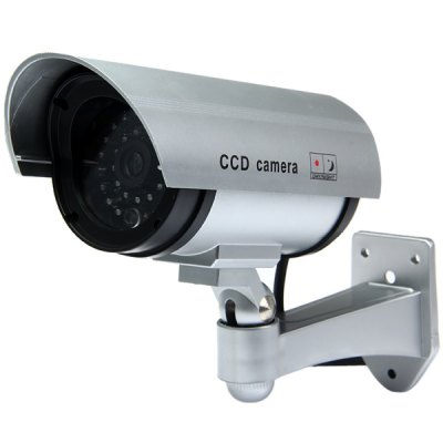 High Resemblance Dummy CCTV Security IR Camera with LED Blinking Light for Indoor Outdoor Use