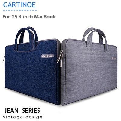Cartinoe Notebook Laptop Sleeve Briefcase Inner Bag for 15.4 inch MacBook Air Pro Jean Series