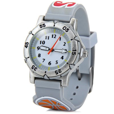 Children 3D Basketball Quartz Watch Rubber Watch Band