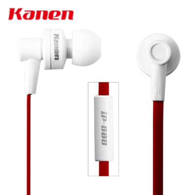 Kanen iP - 808 Detailed Immersive Sound Stage Lebensechten Klang In - ear Headphones Earphones with MIC for Mobile Phones Media