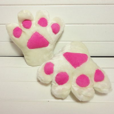 Cool Playing Animal Paw Shape Plush Glove