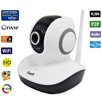 EasyN H3 - V10D 3.6mm Lens IR Night Vision Wireless IP Camera CMOS 1.0MP Cam, Support iPhone and Android Phone Connecting (White
