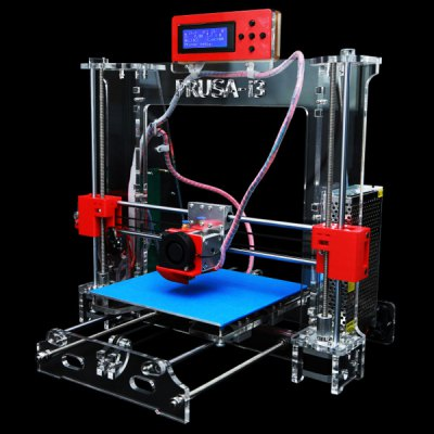P802 Practical Prusa Mendel i3 LCD Display 3D Printer DIY Desktop Starter Bundle Kits Support Windows XP 7 Mac  -  ( US Plug AC