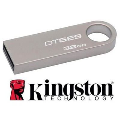 Kingston DataTraveler DTSE9 High Speed 32GB USB2.0 Memory Flash Disk with Large Ring for PC Laptop