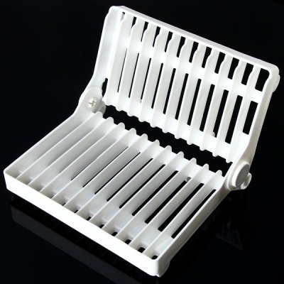 180 Degree Rotatable Kitchen Dish Rack Plate Drip Rack