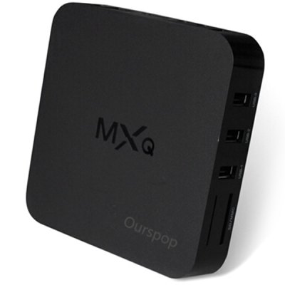 OURSPOP HDQ Amlogic S805 Android 4.4.2 Quad - Core WiFi 1080P Google TV Player TV Box 1GB RAM 8GB ROM for Home Entertainment ( A
