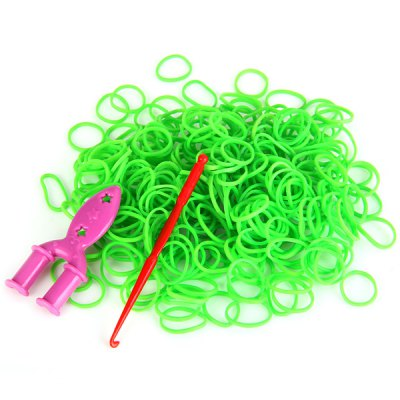 Silicone Bracelet Crazy DIY Rubber Bands 300pcs with 9 Clips