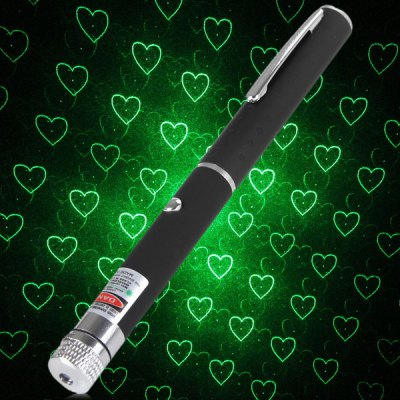 High Performance 6G 5mw Green Laser Stylus Pen Moon Pattern Laser Pointer (2 x AAA Battery)