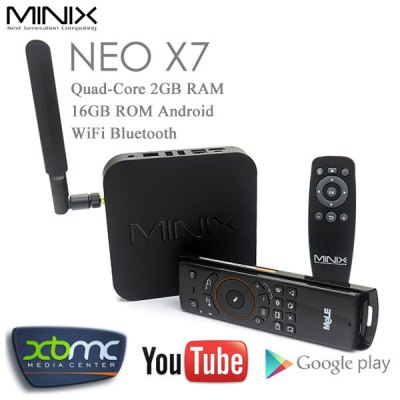 MINIX NEO X7 Quad - Core Android TV Box Mini PC Kit 2GB 16GB WiFi Bluetooth Home Media Player + Mele F10 Air Mouse