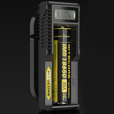Nitecore UM10 Intellicharger Tiny Digi Lithium Battery Charger with LCD Screen for 17500 18650 16340 14500 Batteries