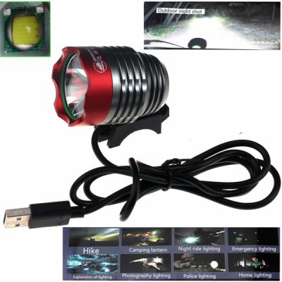Zhishunjia Cree XM - L2 U2 LED 900Lm 3 Modes Water Resistant USB Cycling Headlight