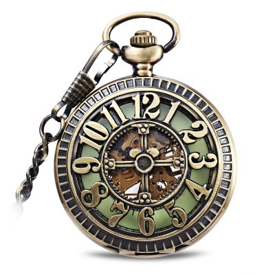 Flip Mechanical Pocket Watch Hollow - out Design