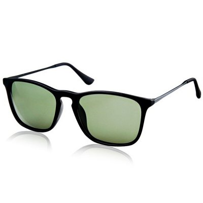 Retro Style Sunglasses of Polarized Lens PC and High Nickel Alloy Frame