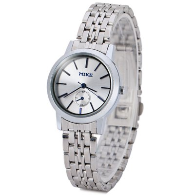 Unique Women Watch Analog with Round Dial Steel Watch Band