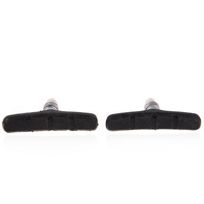 2pcs Wonderful Replacement Part Rubber Brake Pad for Bicycle (Black with Silver)