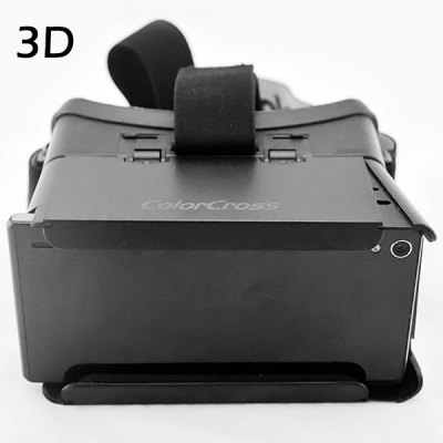 Portable ColorCross Google Virtual Reality 3D Video Glasses with Elastic Band for 4  -  6 inch Smartphones