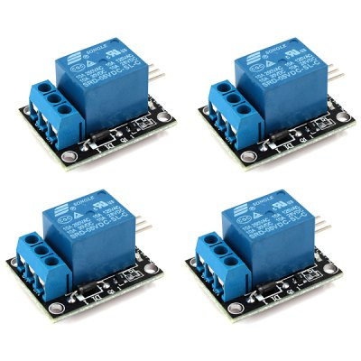 JDQ01 DIY 5V 2 - Channel Relay Module for Common Arduino Application (4pcs)