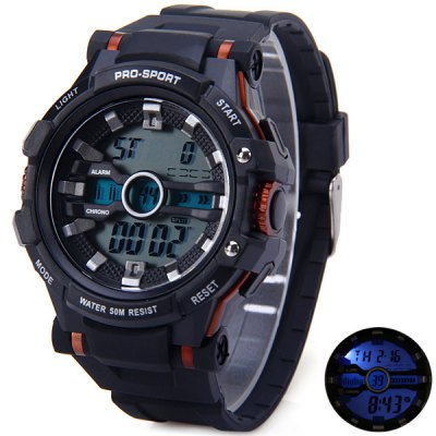 Popart 861 LED Sports Army Watch 50M Water Resistant