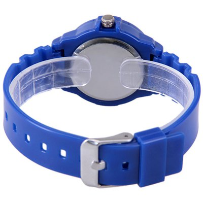 WoMaGe Quartz Children Watch with 12 Arabic Numbers Indicate and Plastic Watch Bandの画像 3