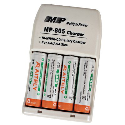 MP - 805 Ni-MH / NiCD Battery Charger for AA / AAA Rechargeable Battery
