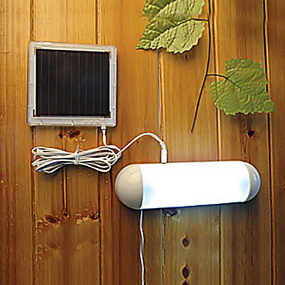 CIS - 53335 5 - LED Outdoor Solar Powered Panel Garden Switch Lamp