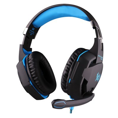 EACH G2100 USB and Audio Jack Dual Input Gaming Headset Stereo Sound Vibration Headset Stretchable Band 2.2m Nylon - coated Cabl
