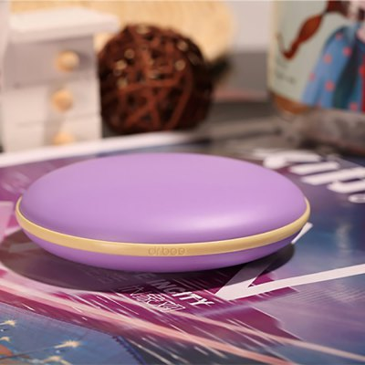 Fashionable Dorayaki Electronic Hand Warmer USB Rechargeable Winter Gadget