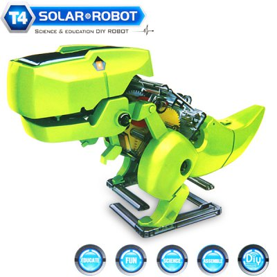 CUTE SUNLIGHT 2125 DIY 4 in 1 Solar Walking Robot Kits T4 Educational Building Block Puzzling Toy