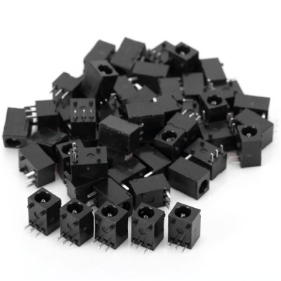 DC - 003 PA66 DC 30V 0.3A 1.3mm Diameter DC Jack Socket for Electronics DIY  -  50PCS