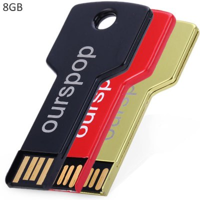 Ourspop OP - 518 High Speed Key Style 8GB USB2.0 Memory Flash Disk for Desktop Laptop