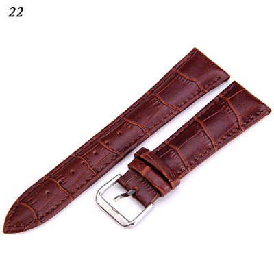 22mm Italy Genuine Leather Watch Band Strap
