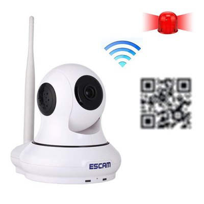 ESCAM QF500 Wifi 720P Alarm IP Camera Pan / Tilt Vertical Angle 120 Degree P2P Support 32GB TF Card