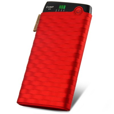 Cager S13 10000mAh High Quality Dual USB Outputs Design Portable Mobile Power Bank with LED Indicator Light