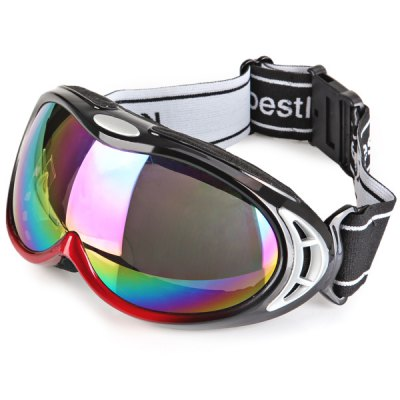 Euopean O - Flame Design Red Snowmobile Ski Goggle Windproof Eyewear  -  Large Sizeの画像 2