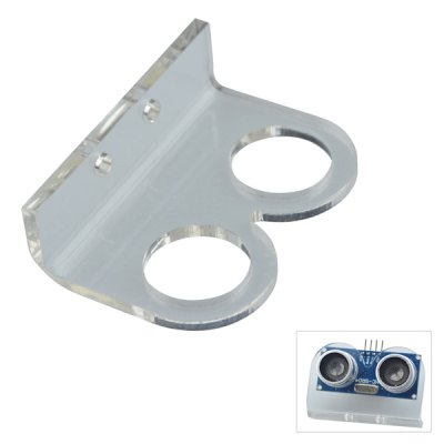 DMDG Transparent Mounted Holder for HC - SR04 Arduino Ultrasonic Distance Measuring Sensor Module Measure Detector